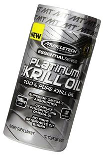 MuscleTech Platinum Krill Oil, 100% Pure Krill Oil, 30 Soft