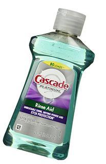 Cascade Platinum Rinse Aid Dishwasher Rinse Agent, Regular,
