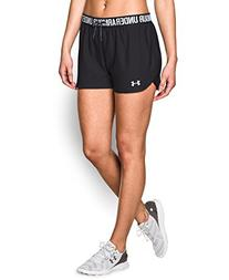 Under Armour Women's Play Up Shorts, Black/Black, Medium