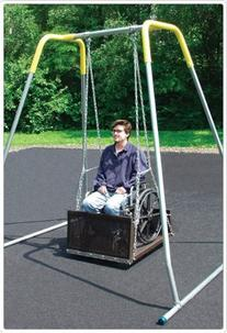 Sport Play 381-404H Wheelchair Swing with Frame Adult