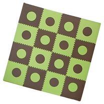 Tadpoles 16 Sq Ft Playmat Set, Green/Brown
