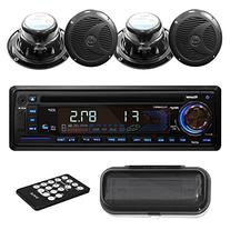 Pyle PLCD4MRKT Stereo Radio Headunit Receiver & Speaker Kit