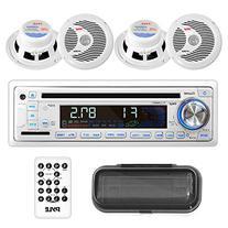 Pyle Stereo Radio Headunit Receiver & Waterproof Speaker Kit