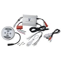 Pyle PLMRMBT5S Marine Grade 600 Watt Amp Bluetooth 2-Channel