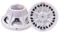 PYLE PLMRW12 12-Inch 600 Watt White 4 Ohm Marine Subwoofer