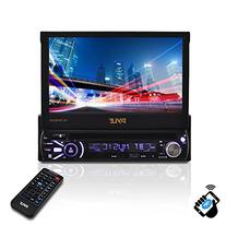 Single DIN Head Unit Receiver - In-Dash Car Stereo with 7