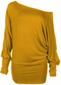 Hot Hanger Womens PLUS SIZE Batwing Top Plain Long Sleeve