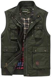 Men's Plus Big & Tall Zipper Cotton Thermal Waistcoat