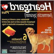 Heartgard Plus Chewables 6pk Brown 51-100 lbs by MERIAL