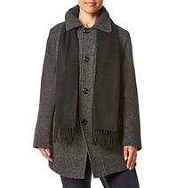 London Fog® Plus Size Diagonal Seaming Coat