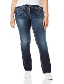 Silver Jeans Junior's Plus-Size Suki Slim Flap Pocket