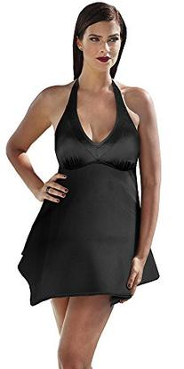 Tropiculture Women's Handkerchief Swimdress 14 Black