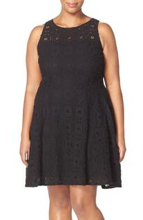 Plus Size Women's Bb Dakota 'Renley' Lace Fit & Flare Dress