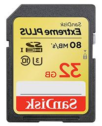 SanDisk Extreme Plus 32GB UHS-1/U3 SDHC Memory Card Up To