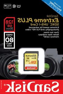 SanDisk Extreme Plus 128GB UHS-1/U3 SDXC Memory Card Up To