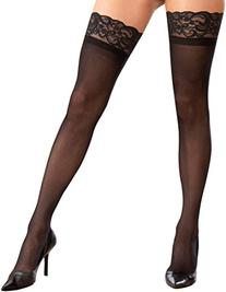 71aae22e7047f Dreamgirl Women's Plus Size Sheer Thigh High Socks, Black,