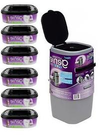 Litter Genie Plus Silver Cat Litter Disposal System and 6