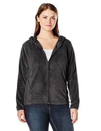 Jason Maxwell Women's Plus-Size Full Zip Hooded Fleece