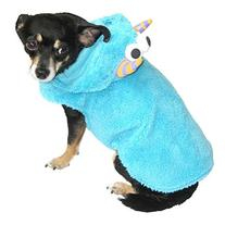 Plush Blue Monster Dog Costume Pet Outfit XXS