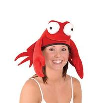 Plush Crab Hat Party Accessory