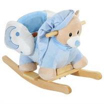 Qaba Plush Kids Ride On Rocking Horse Bear with Sound - Blue
