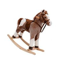 Kids Plush Rocking Horse Pony w/ Realistic Sounds - Brown