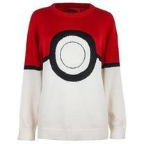 Pokemon I Am Pokeball Knit Pullover Sweater: Small