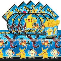Pokemon Pikachu & Friends Birthday Party Tableware Pack for
