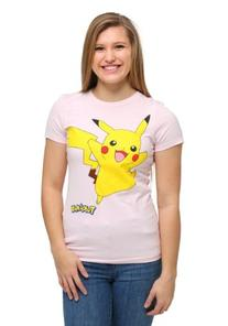 Pokemon Pikachu Smile Walk Womens T-Shirt