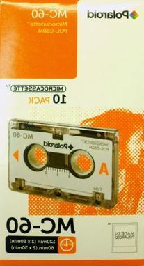 Polaroid POL-C60M 60-Minute Microcassette, 10-Pack