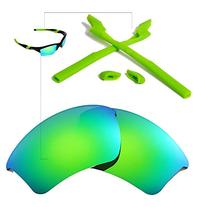 Walleva Polarized Lenses And Rubber Kit for Oakley Half Jacket 2.0 XL Sunglasses - Multiple Options Available
