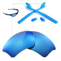 Walleva Polarized Lenses And Rubber Kit for Oakley Half
