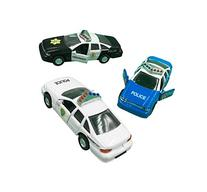 Police Car Die Cast Metal, 5 Inch Pull Back Police Cars,