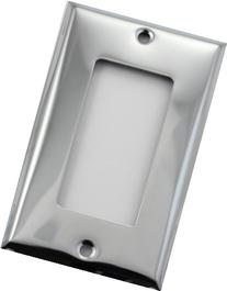Polished Chrome Single Gang GFI/Decora Wall Plate