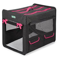 Crusing Companion Polka Dot Collapsible Crate X-Small Black