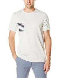 Fred Perry Men's Polka Dot Stripe Pocket T-Shirt, Snow White