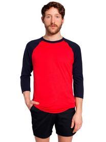 American Apparel  Unisex Poly-Cotton 3/4 Sleeve Raglan Shirt