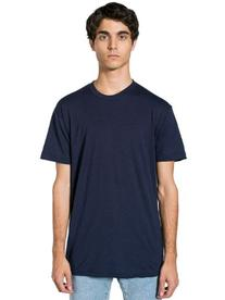 American Apparel  Poly-Cotton Short Sleeve Crew Neck, Navy,