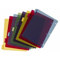 Cardinal Poly Dividers without Pockets, 8-Tab, Multi-Color,