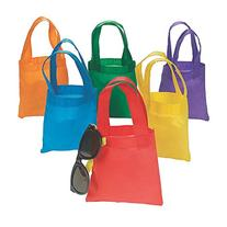Fun Express Poly Non-Woven Party Tote Bags - 6 Inches - 12
