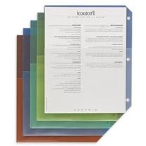 Poly Pockets for Ring Binders, Letter, Assorted Colors, 5/