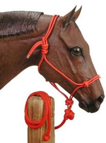 Tough 1 Poly Rope Tied Halter with Lead, Royal Blue