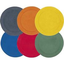 Champion Sports Poly Spot Markers, 10-inch - Set of 6, Multi