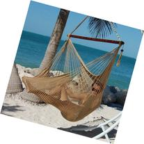 "Caribbean Hammocks Polyester Hanging Chair, Large, 48"" L,"
