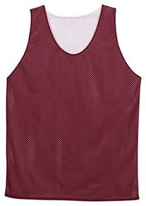 Badger Polyester Mesh Reversible Tank in Cardinal and White