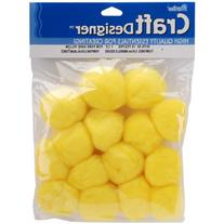 "Pom Poms 1.5"" 15/Pkg-Yellow"