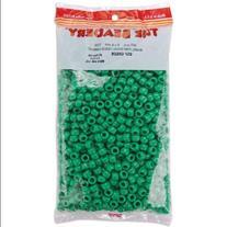 Pony Beads 6x9mm 900/Pkg-Opaque Green