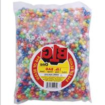 Pony Beads 9mm 1 Pound/Pkg-Pearlized Multi