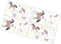 Pony Wall Decal Stickers by Sweet Jojo Designs - Set of 4