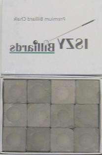 Premium Pool Table Billiard Cue Chalk 12 Pieces Charcoal